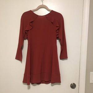 Dark orange cotton on dress